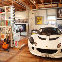 Garages de estilo rural por J-STYLE GARAGE Co.,Ltd.