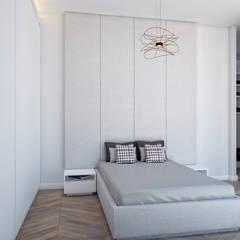 Voltaj Tasarım - Bodrum AA Evi: minimal tarz tarz Yatak Odası