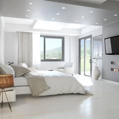ROAS Architecture 3d Design - Bedroom View: modern tarz Yatak Odası