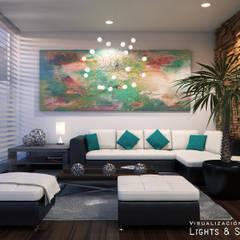 translation missing: id.style.ruang-keluarga.modern Ruang Keluarga by Lights & Shades Studios