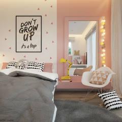 Dormitorios infantiles de estilo moderno por ELEMENTY - Pracownia Architektury Wnętrz