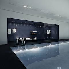 Basen: styl translation missing: pl.style.basen.nowoczesny, w kategorii Basen zaprojektowany przez Pracownie Wnętrz Kodo