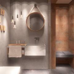 Łazienka gościnna z prysznicem: styl translation missing: pl.style.Łazienka.nowoczesny, w kategorii Łazienka zaprojektowany przez FAMM DESIGN
