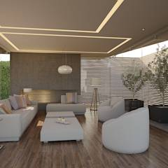 Sala de Estar: Salas de estilo minimalista por 21arquitectos