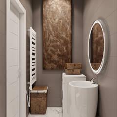 3-к квартира для молодой семьи: Ванные комнаты в translation missing: ru.style.Ванные-комнаты.minimalizm. Автор - BRO Design Studio