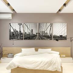 2-к квартира для молодой семьи: Спальни в translation missing: ru.style.Спальни.minimalizm. Автор - BRO Design Studio