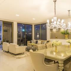 Residência A & F: classic Dining room by Lyssandro Silveira