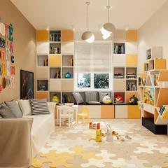 Dormitorios infantiles de estilo ecléctico por Studio Eksarev & Nagornaya