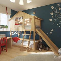 Dormitorios infantiles de estilo ecléctico por Мастерская дизайна Welcome Studio