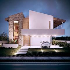 Casa Alphaville: Casas tropicais por Martins Lucena Arquitetura