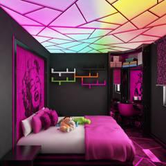 armimarlik - PEMBE ODA: modern tarz Yatak Odası