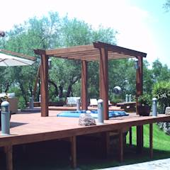 Pool Área Barrenechea - Santiago: Albercas de estilo moderno por Moya-Arquitectos
