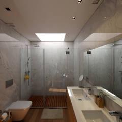 Casa em Guimarães: Casas de banho minimalistas por 3H _ Hugo Igrejas Arquitectos, Lda