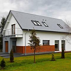 Realizacja projektu Amelia: styl nowoczesne, w kategorii Domy zaprojektowany przez BIURO PROJEKTOWE MTM STYL