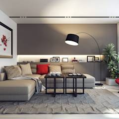 Design Studio Details: eklektik tarz tarz Oturma Odası