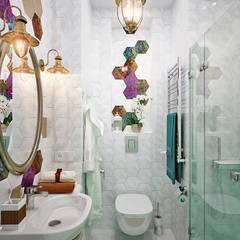 Легкость бытия: ванная комната в современном стиле: Ванные комнаты в translation missing: ru.style.Ванные-комнаты.modern. Автор - Студия дизайна Interior Design IDEAS