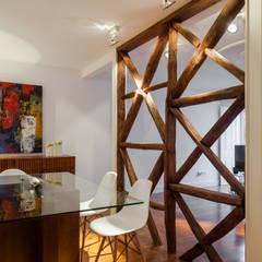 Apartamento São Caetano: Salas de jantar minimalistas por Vanessa Santos Silva | Arquiteta