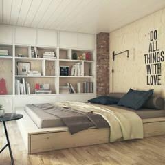Спальня: Спальни в translation missing: ru.style.Спальни.loft. Автор - The Goort