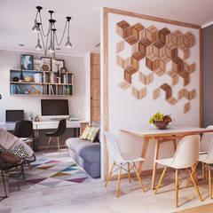 Apartament Verbi : Гостиная в translation missing: ru.style.Гостиная.minimalizm. Автор - Polygon arch&des