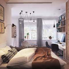 Apartament Verbi : Спальни в translation missing: ru.style.Спальни.minimalizm. Автор - Polygon arch&des