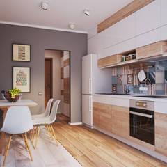 Apartament Verbi : Кухни в translation missing: ru.style.Кухни.minimalizm. Автор - Polygon arch&des