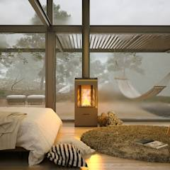 A bedroom in winter times: Dormitorios de estilo moderno por ArqRender