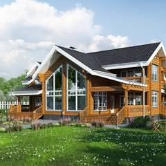 Wooden houses.: Дома в translation missing: ru.style.Дома.klassicheskiy. Автор - Design studio of Stanislav Orechov. ARCHITECTURE / INTERIOR DESIGN / VISUALIZATION.