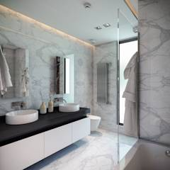 BUUN MOTTO ARCHITECTS - ATLAS TERAS    Mersin   Turkey   : modern tarz Banyo
