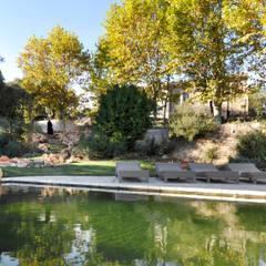 piscine naturelle: Piscine de style de style Méditerranéen par goodnova godiniaux