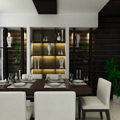 Singh Residence: modern Dining room by Space Interface