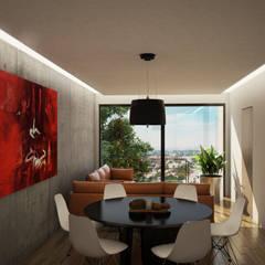 Edificio Residencial Amores: Comedores de estilo moderno por Punto Negro Arquitectura