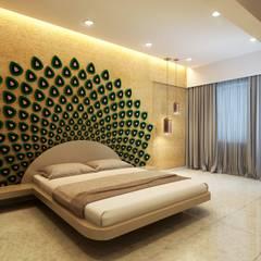 3D render: modern Bedroom by jyotsnarawool