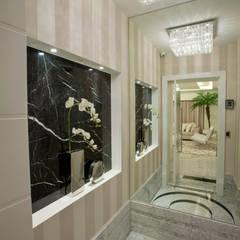 Apartamento Palazzo: Corredores, halls e escadas modernos por Designer de Interiores e Paisagista Iara Kílaris
