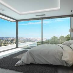 Villa Nerea: moderne Schlafzimmer von Miralbó Excellence