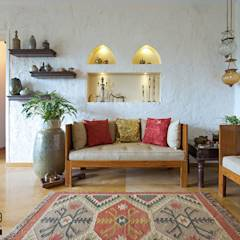 Living Room: country Living room by ZERO9