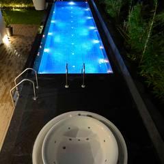 THE RIDGES - A3 VILLA: modern Pool by Aijaz Hakim Architect [AHA]