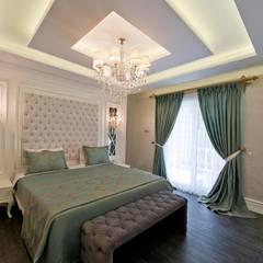 VRLWORKS - Ümit Aslan Villası Kemer: modern tarz Yatak Odası