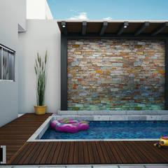 translation missing: th.style.สระว-ายน-ำ.modern สระว่ายน้ำ by Modulor Arquitectura