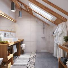 Apartament OpenSpace: Ванные комнаты в translation missing: ru.style.Ванные-комнаты.skandinavskiy. Автор - Polygon arch&des
