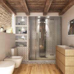 Bagno: Bagno in stile in stile Rustico di Render&Design | ONLINESTUDIO