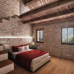 Camera da letto in stile rustico idee homify - Camera da letto stile giapponese ...