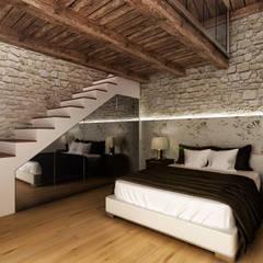 Camera da letto: Camera da letto in stile in stile Rustico di Render&Design | ONLINESTUDIO