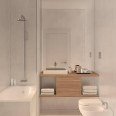 Residential building in Lisbon 2: Casas de banho minimalistas por Lagom studio