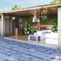 GRNT3D - villa 05: klasik tarz tarz Bahçe