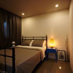 부부침실: 제이앤예림design의 translation missing: kr.style.침실.industrial 침실