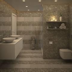 Baño Habitación Principal.: Baños de estilo moderno por Gabriela Afonso