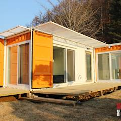 경기도 양평 UNIBOX HOUSE:  (주)감동C&D 유니박스의 translation missing: kr.style.주택.modern 주택