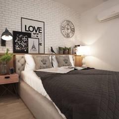 SIBEL SARIKAYA INTERIOR DESIGN OFFICE - Silas Holst & Johannes Nymark  House : endüstriyel tarz tarz Yatak Odası
