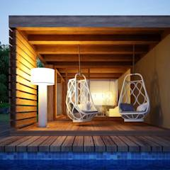 Casa Modular - Alpendre: Habitações translation missing: pt.style.habitações.escandinavo por Maqet