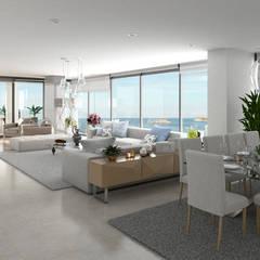Morano Mare - Sala comedor: Salas de estilo moderno por Area5 arquitectura SAS